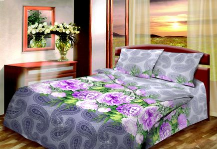 Постельное бельё из бязи 1,5 спальное - ВС - МАЙСКИЙ КОКТЕЙЛЬ.